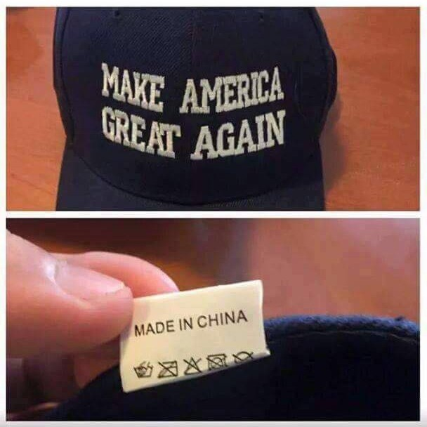 Gorras 'Make America Great Again' Made in China