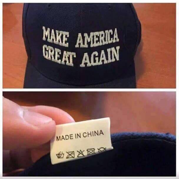 Gorras 'Make America Great Again' Made in China