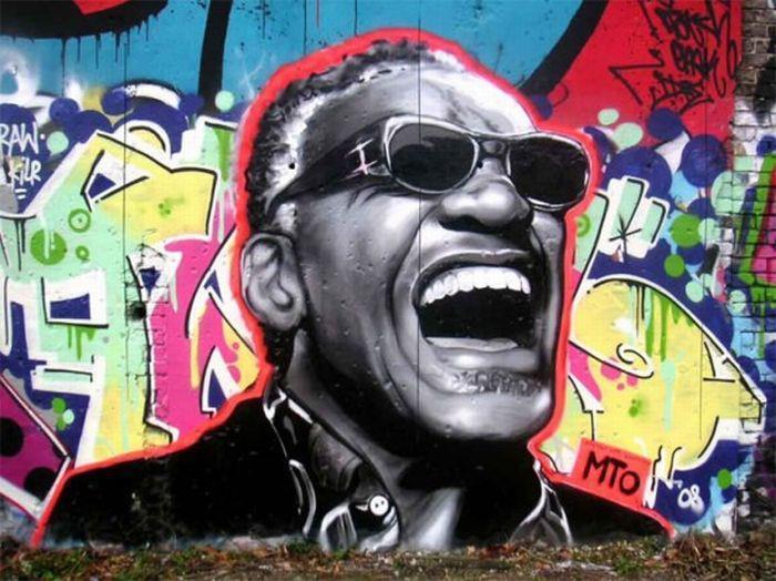 Arte urbano - Graffiti de Ray Charles