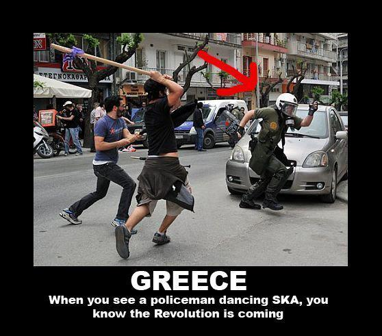 Policía bailando SKA