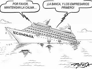 La economía se hunde