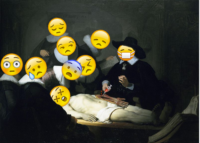 Lección de anatomía de Rembrant según el Whatsapp