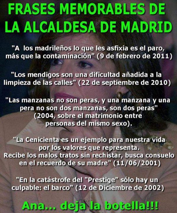 Las mejores frases de Ana Botella