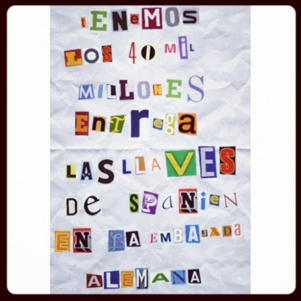 Petición oficial del rescate a España