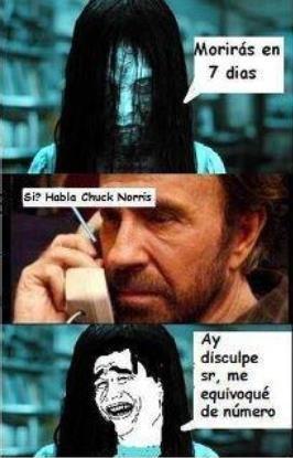 """Niña de """"The Ring"""" llamando a Chuck Norris"""