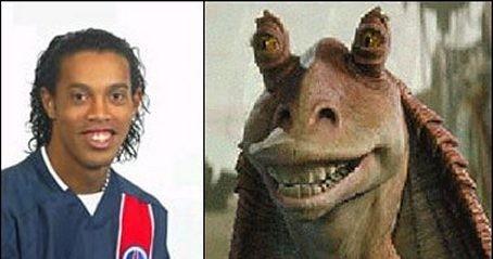Parecidos razonables - Ronaldinho y Jar Jar Binks