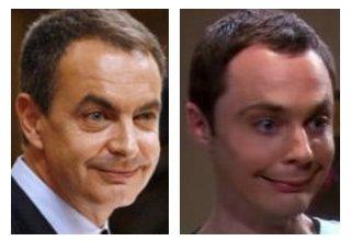 Parecidos razonables - Zapatero y Sheldon Cooper