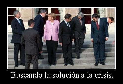 Políticos buscando la solución a la crisis