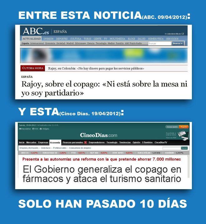 Rajoy y el copago