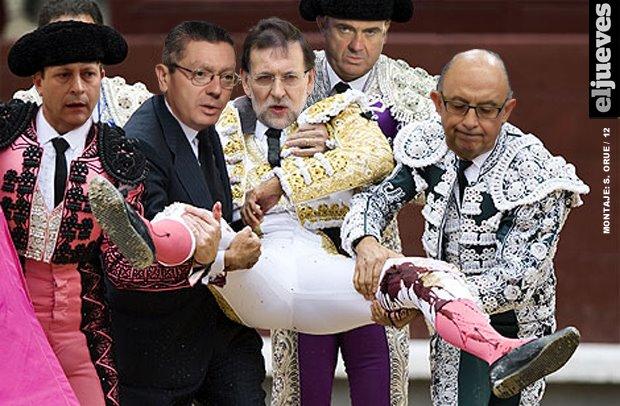 Rajoy tocado
