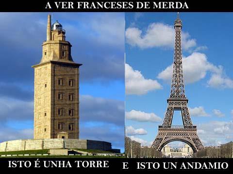 Torre de Hércules vs Torre Eiffel