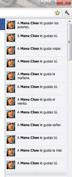 Manu Chao Me Gustas Tú Facebook Style