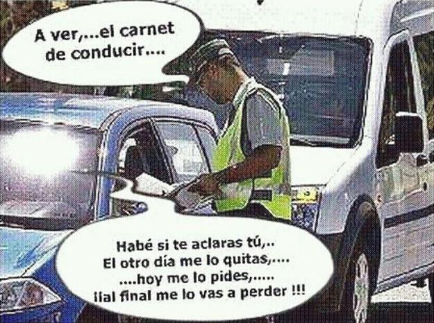 A ver, el carnet de conducir
