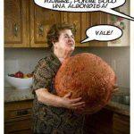 Abuela, no tengo hambre, ponme solo una albondiga