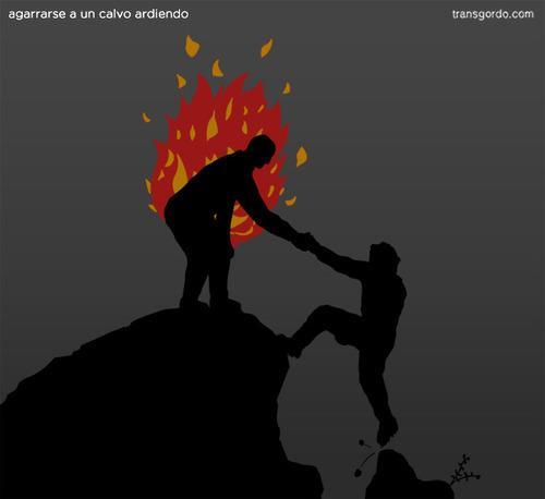Agarrarse a un calvo ardiendo