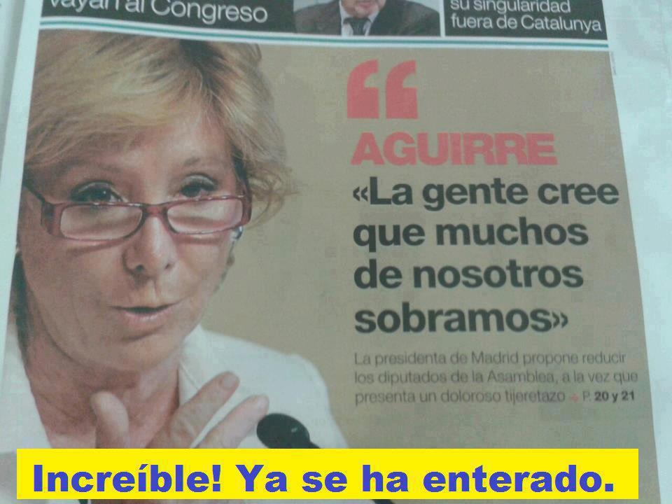 Aguirre demuestra que es capaz de darse cuenta de algunas cosas