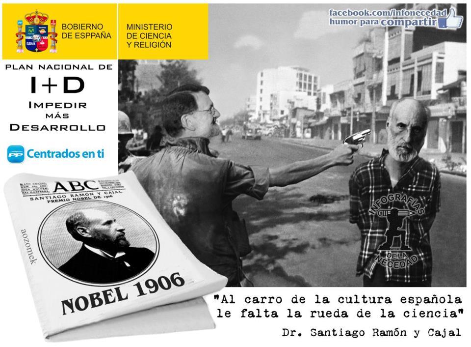 Al carro de la cultura española le falta la rueda de la ciencia (Santiago Ramón y Cajal)