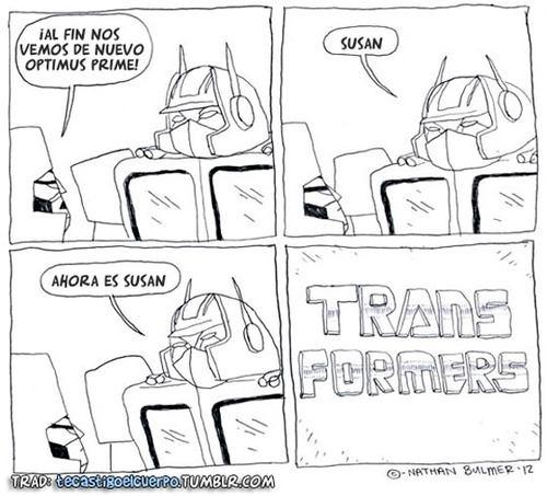 al fin nos vemos optimus prime - susan - ahora es susan