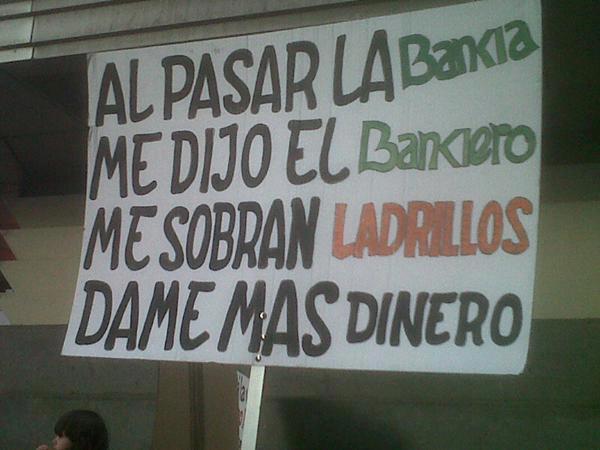 Al pasar la Bankia me dijo el bankiero, me sobran ladrillos, dame más dinero