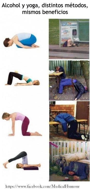 Alcohol y yoga, distintos métodos, mismos beneficios