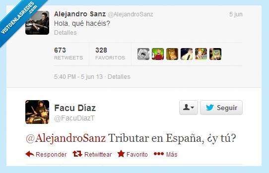 Alejandro Sanz: Hola, qué hacéis