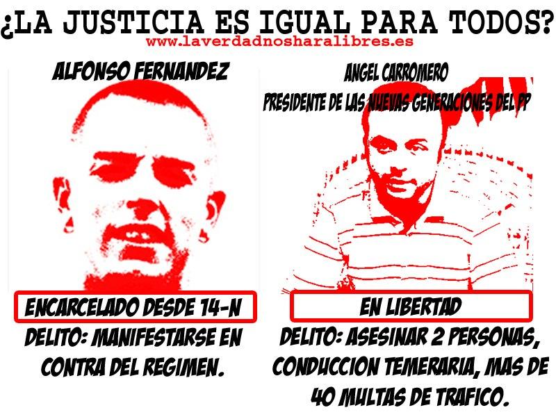¿La justicia es igual para todos? Alfonso Fernández vs Carromero