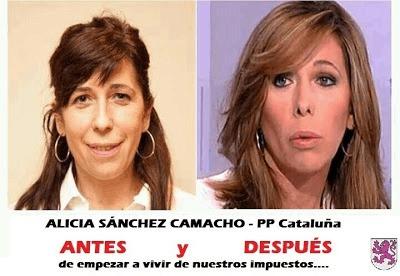 Alicia Sánchez Camacho - Antes y después de empezar a vivir de nuestros impuestos