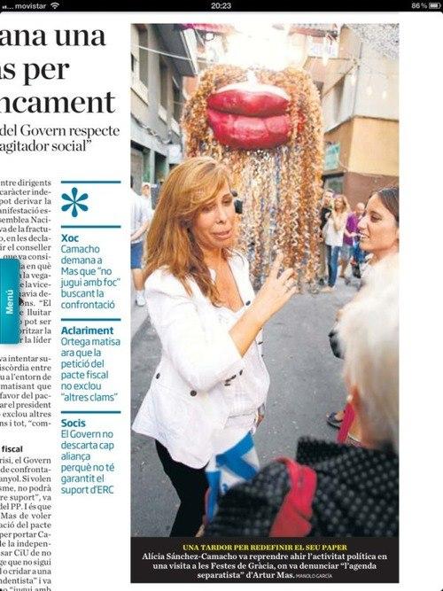 Alicia Sánchez-Camacho en las fiestas de Grácia