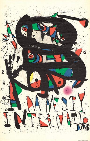 Amnistía Internacional - Cartel de Juan Miró