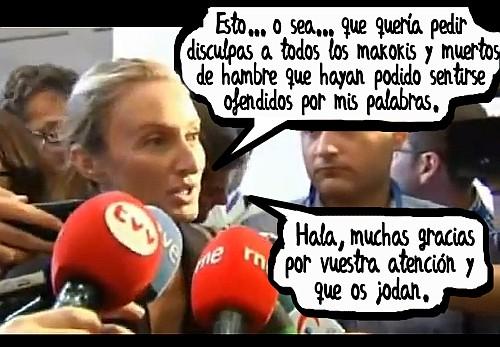 Andrea Fabra se disculpa por insultar a los parados