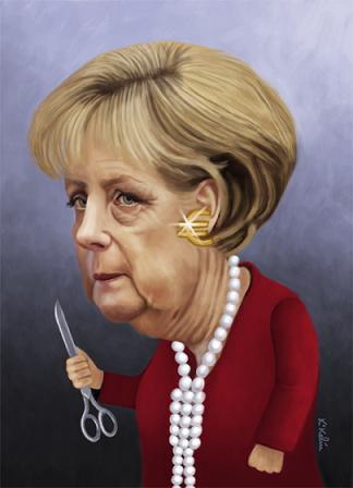 Kikelin - Caricatura Angela Merkel