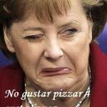 Merkel, sobre las pizzas