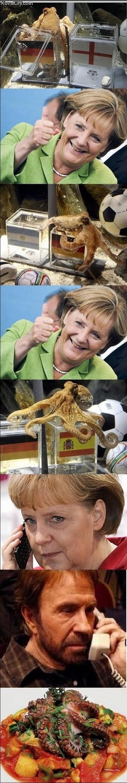 Angela Merkel, Chuck Norris y el pulpo Pol