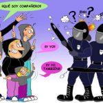 Nuevo método para evitar porrazos en las manifestaciones