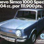Nuevo Simca 1000 especial