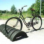 Aparcaderos para bicicletas con neumáticos