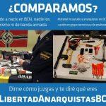 Arsenal incautado a nazis y material incautado a anarquistas en Barcelona