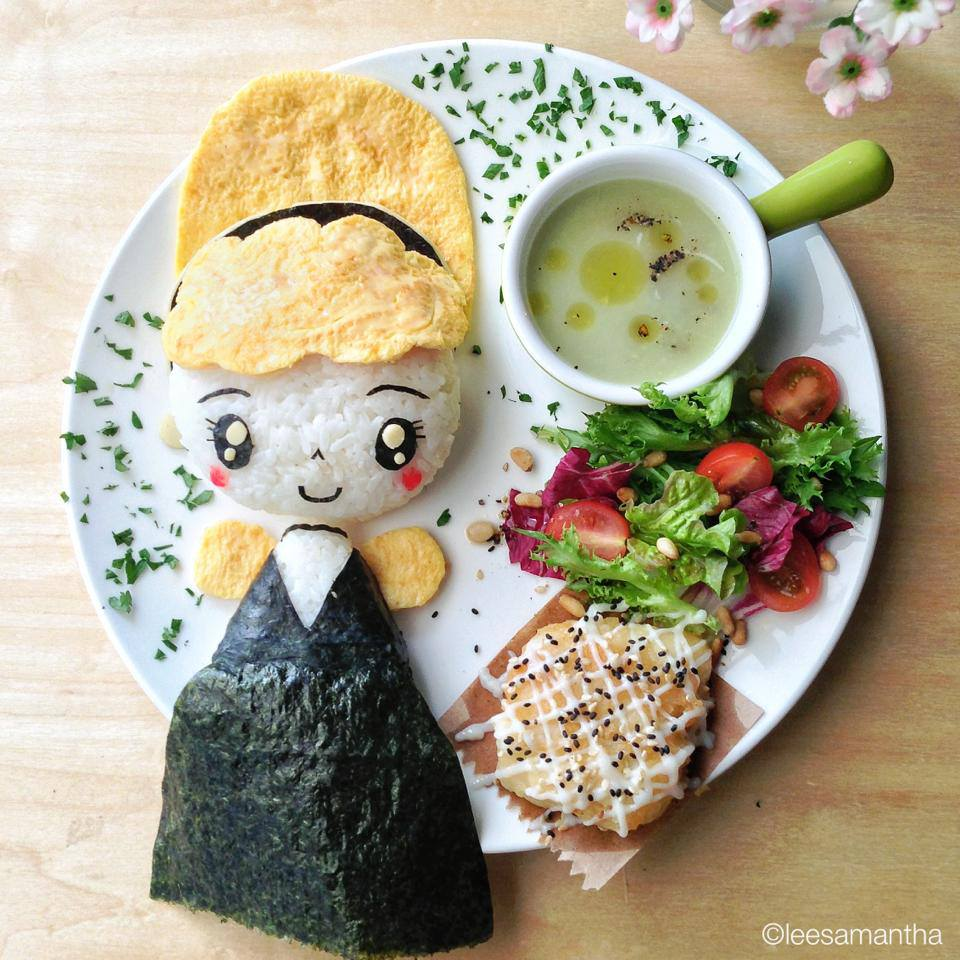 arte con comida - la cenicienta