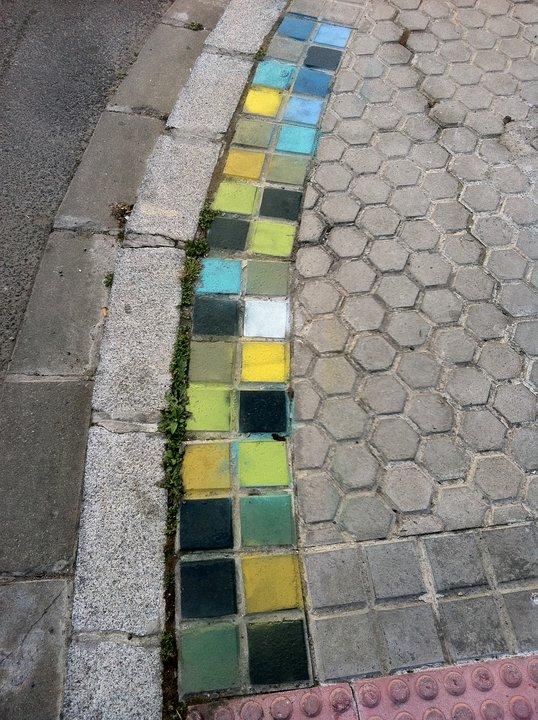 Arte urbano - Acera de colores