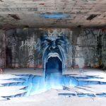 Arte urbano – Boca en pared