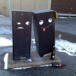 Arte urbano: Caja borracha