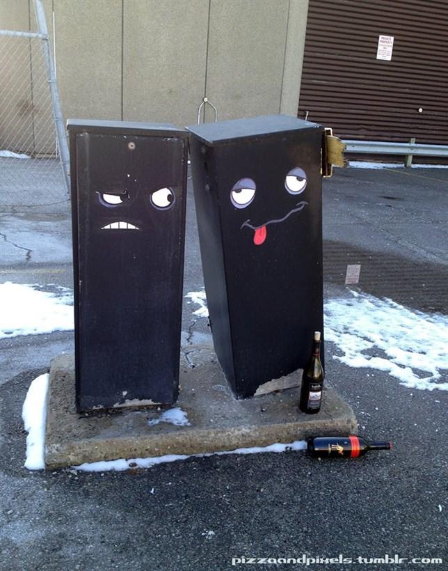 arte urbano caja borracha