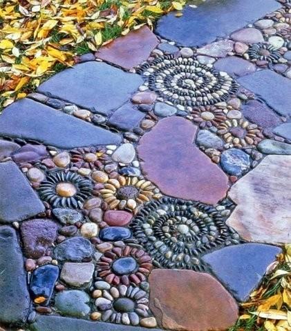 Arte urbano - Camino multicolor