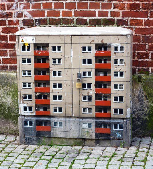 Arte urbano - Edificio en pared