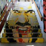 Arte urbano – Escalera con dibujo