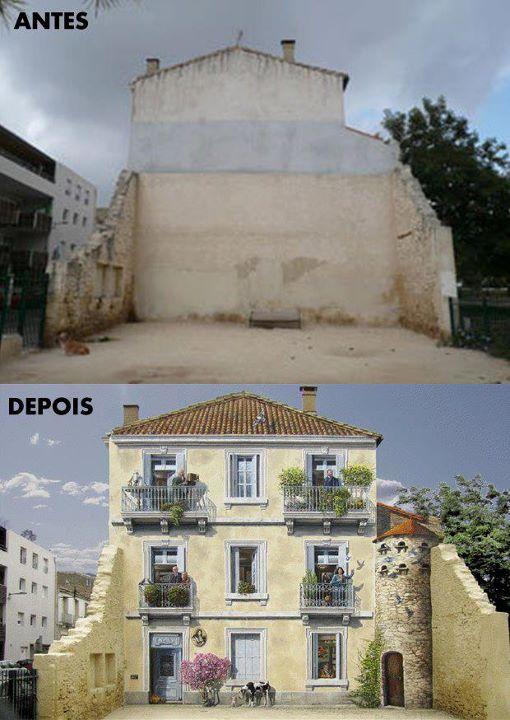 Arte urbano - ¿Fachada real o pintada?