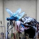 Arte urbano – Rana y mosquito