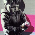 Arte urbano – Niño con spray