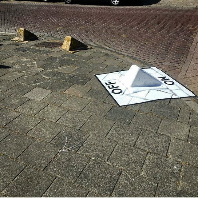 arte urbano interruptor on off en pivote