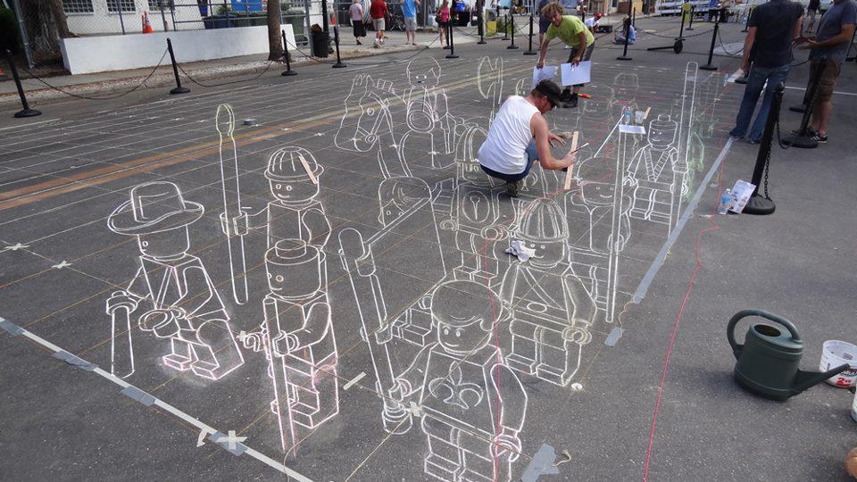 Arte urbano en 3D - El ejército de Lego
